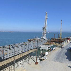 Бетонирование моста через Керченский пролив